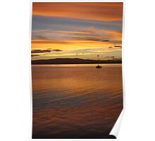 sunset over molokai Poster
