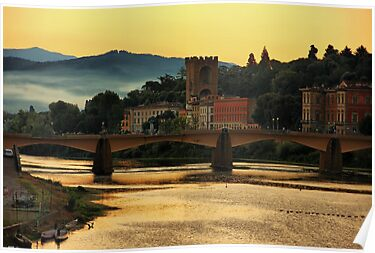 Morning Along the Arno by Barbara  Brown