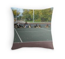 11 Shepherds Out for a Walk in the Park Throw Pillow