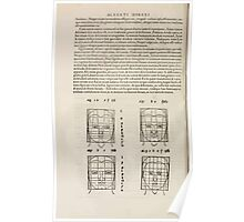 Famous Painter Parts Human Body Symmetry Four Books Geomety 1557 Albrecht Durer 0176 Heads Poster