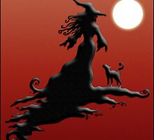 Witch's Silhouette - Prints and Cards by CGafford