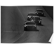 Castrol Canadian Touring Cars Hyundai Subaru BMW Acura Monochrome Poster