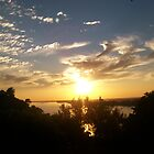 Sunset on the Mighty Mississippi by Dan McKenzie