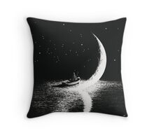Arrival At Moonlight Throw Pillow