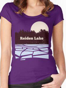 Reiden Lake (fringe) Women's Fitted Scoop T-Shirt