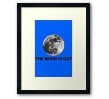The moon is gay geek funny nerd Framed Print