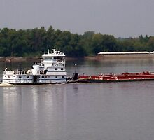 Tug & Barge on the Mighty Mississippi by Dan McKenzie