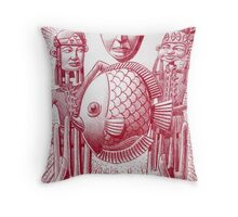 Fishes not dishes Throw Pillow