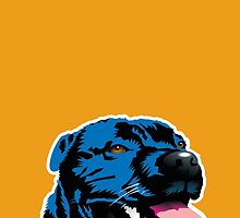 Blue Staffy by Bloomin'  Arty Gifts and Tees