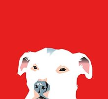 white staffie by Bloomin'  Arty Babies