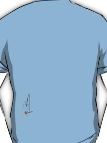 Small White Totoro Fishing - Outline T-Shirt
