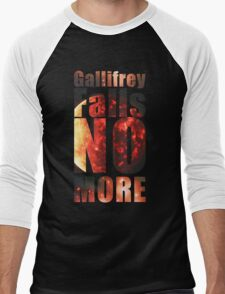 Gallifrey - No More (Black) - Simple Typography Collection Men's Baseball ¾ T-Shirt