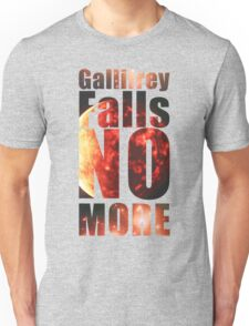 Gallifrey - No More (Black) - Simple Typography Collection Unisex T-Shirt