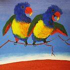 THE RAUCOUS RAINBOW LORIKEET (AUSTRALIA) by RoseLangford