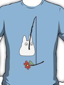 Small White Totoro Fishing T-Shirt
