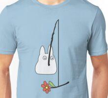 Small White Totoro Fishing Unisex T-Shirt