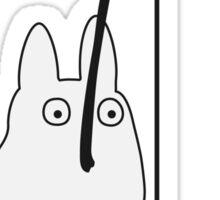 Small White Totoro Fishing Sticker