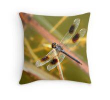 Blue Skimmer Dragonfly Throw Pillow