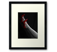 Hot, Red and Strappy Framed Print