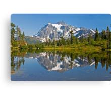 Mt. Shuksan, Picture Lake (North Cascades National Park) Canvas Print