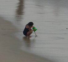 at the beach IV - en la playa by Bernhard Matejka