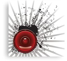 Music Poster with Audio Speaker 3 Canvas Print