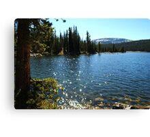 Mirror Lake Sparkle Canvas Print