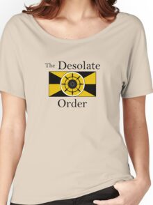 The Desolate Order - black text Women's Relaxed Fit T-Shirt
