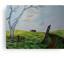 Broken Fence Canvas Print