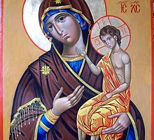 "Icon of the Mother of God ""the Teacher"" by Alla Melnichenko"