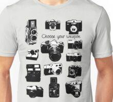 Vintage film cameras chose your weapon Unisex T-Shirt
