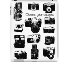Vintage film cameras chose your weapon iPad Case/Skin