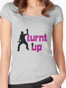 Turnt up geek funny nerd Women's Fitted Scoop T-Shirt