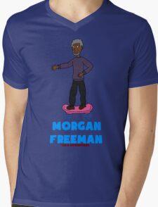 Morgan Freeman On A Hoverboard Mens V-Neck T-Shirt