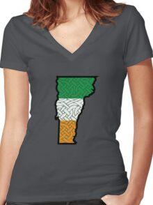 Irish VT (with knotting) Women's Fitted V-Neck T-Shirt