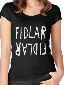 FIDLAR logo black Women's Fitted Scoop T-Shirt