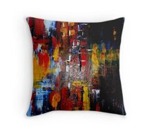 Girls' Rainy Night Out Throw Pillow