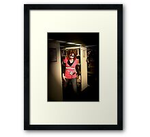 Zombrarian with attitude Framed Print