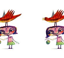 Bouncing a Ball With Bird on My Head by cancolwell