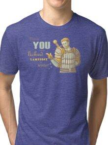 Alistair- Have you ever licked a lamppost in winter? Tri-blend T-Shirt