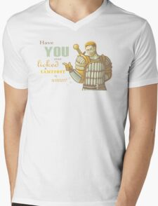 Alistair- Have you ever licked a lamppost in winter? Mens V-Neck T-Shirt