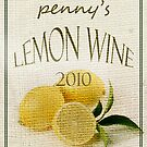 Lemon Wine Label by pennyswork