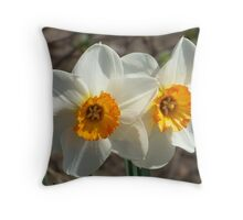 Daffodils. Throw Pillow