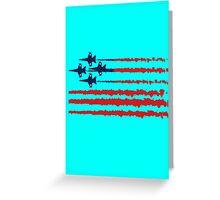 Usa flag blue angels diamond red white geek funny nerd Greeting Card