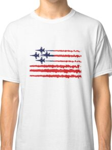 Usa flag blue angels diamond red white geek funny nerd Classic T-Shirt