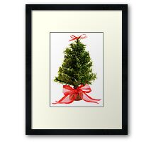 Christmas Tree & Red Bow Framed Print