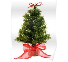 Christmas Tree & Red Bow Poster