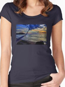 Sunset On Makena Bay Women's Fitted Scoop T-Shirt