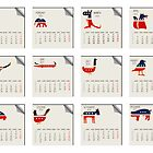 Animals calendar for 2011 by robertosch
