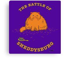 The Battle of Sheddysburg Cat Canvas Print